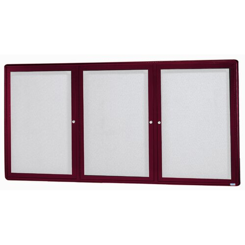 AARCO Radius Design Enclosed Bulletin Board