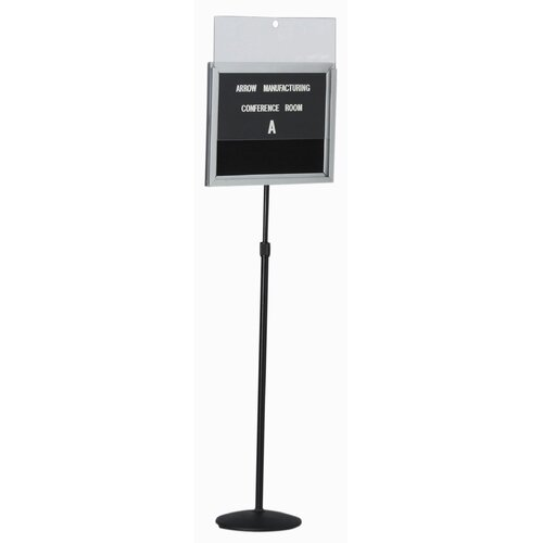AARCO Single Pedestal Letter Board with Acrylic Lift Off Cover