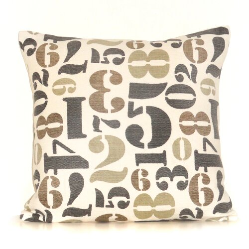 Throw Pillow With Numbers : Rizzy Home Number Cotton Throw Pillow & Reviews Wayfair
