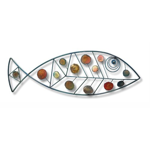 Fox Hill Trading Iron Werks Dappled Fish Wall Décor