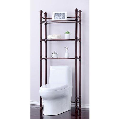 "Fox Hill Trading Monte Carlo 26"" x 67"" Bathroom Space Saver Shelf"