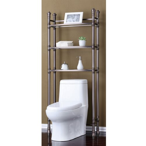 "Fox Hill Trading Monte Carlo 26"" x 67"" Bathroom Space Saver Shelf"