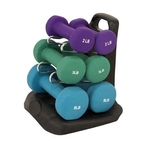 Maha Fitness Dumbbell Set with Stand