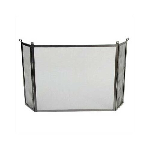 Rolled End 3 Panel Steel Fireplace Screen