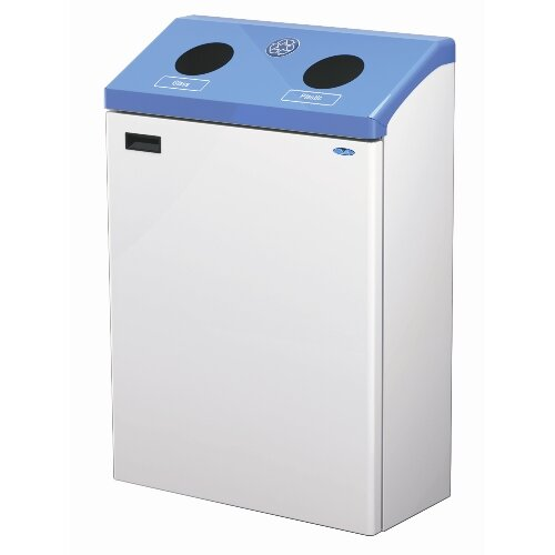 Frost Products Two Stream Wall Mounted 45 Gallon Multi Compartment Recycling Bin