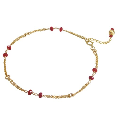 Vivian Yang Ruby Chinese Passion Anklet