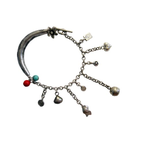 Gemstone Chinese Treasure Charm Bracelet