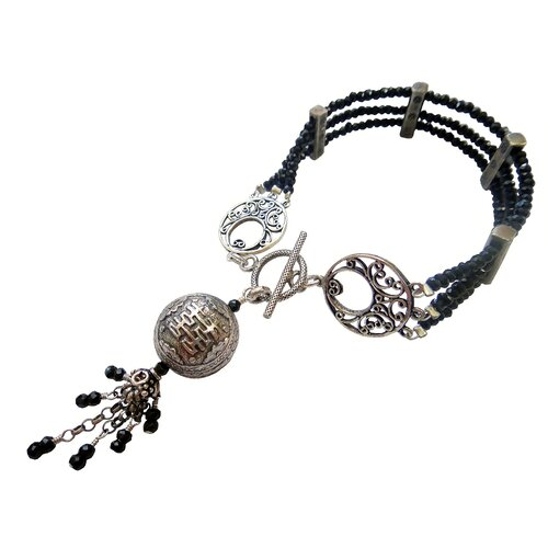 Double Happy Break String Spinel Charm Bracelet