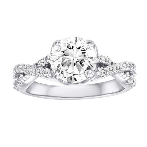 Diamonair Sterling Silver Cubic Zirconia Ring