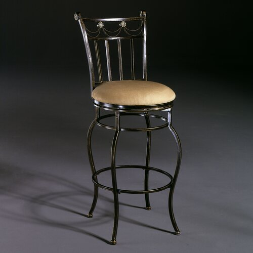 "Hillsdale Furniture Camelot II 26"" Swivel Bar Stool with Cushion"