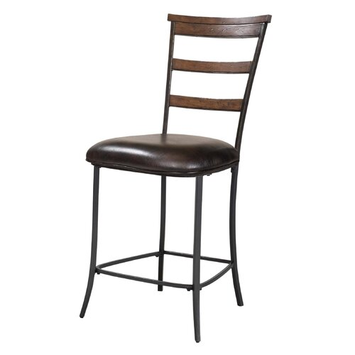 "Hillsdale Furniture Cameron Ladderback Non Swivel 26"" Counter Stool"