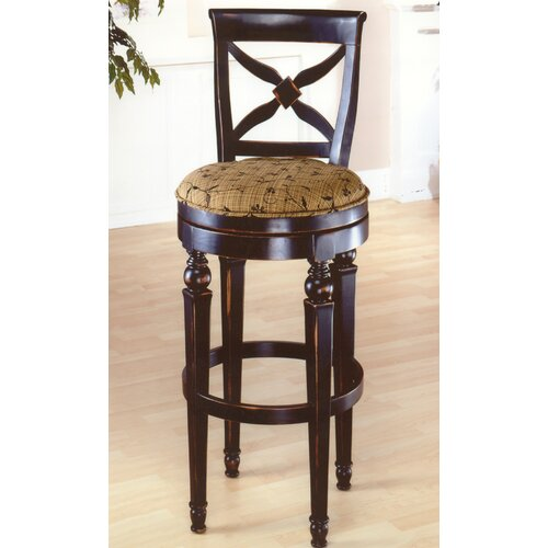 """Hillsdale Furniture Normandy 30"""" Swivel Bar Stool with Cushion"""