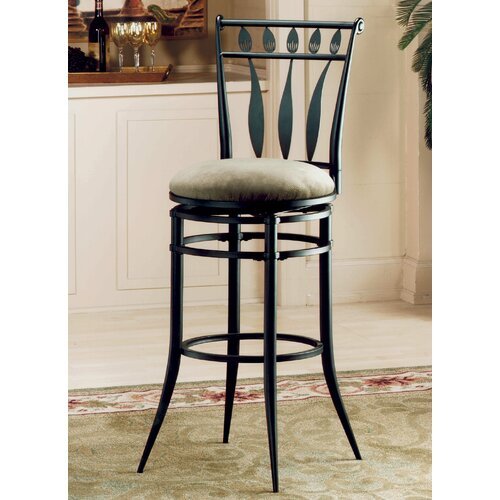 "Hillsdale Furniture Hudson 26"" Swivel Bar Stool with Cushion"