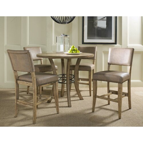 Hillsdale Furniture Charleston 5 Piece Round Counter Height Dining Set