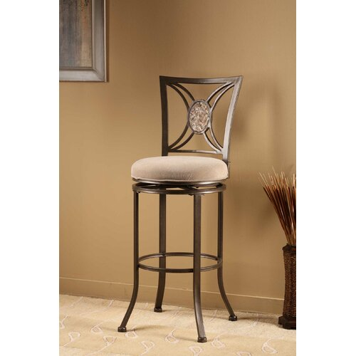 "Hillsdale Furniture Rowan 26"" Swivel Bar Stool with Cushion"