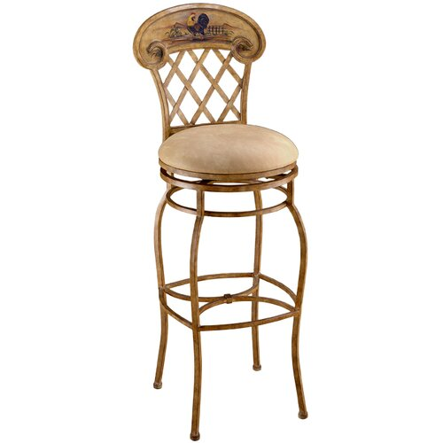 "Hillsdale Furniture Rooster 26.5"" Swivel Bar Stool with Cushion"