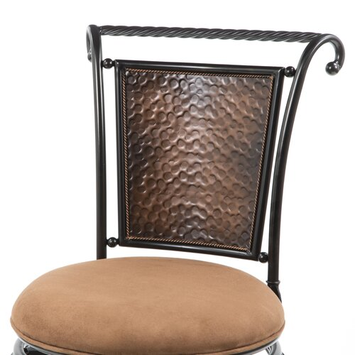 "Hillsdale Furniture Milan 30"" Swivel Bar Stool with Cushion"