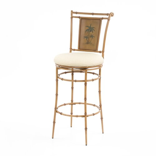 "Hillsdale Furniture West Palm 30"" Swivel Bar Stool with Cushion"