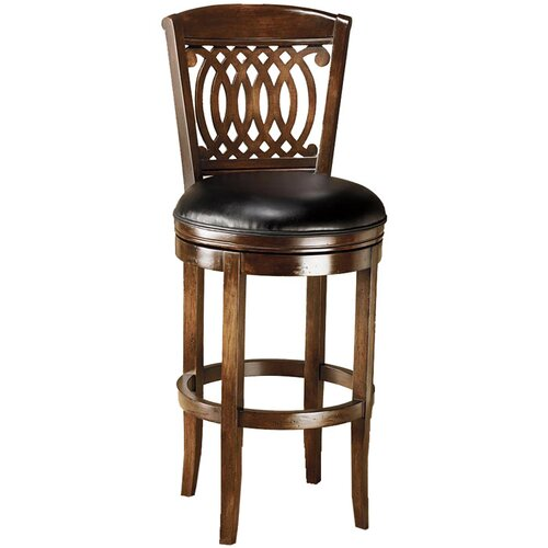 "Hillsdale Furniture Vienna 24"" Swivel Bar Stool with Cushion"