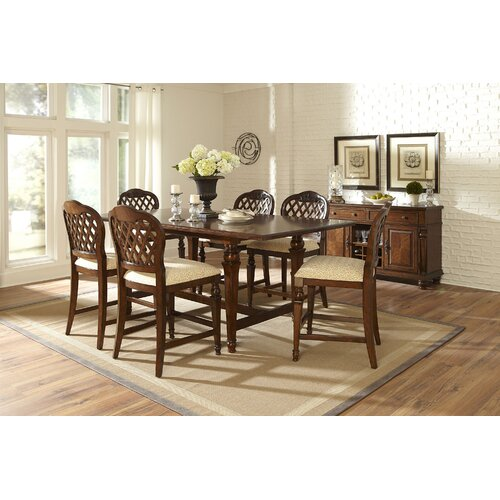 Hillsdale Furniture Woodridge 7 Piece Counter Height Dining Set