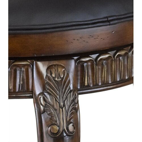"Hillsdale Furniture Fleur De Lis 24"" Swivel Bar Stool with Cushion"