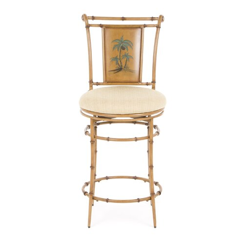 "Hillsdale Furniture West Palm 26"" Swivel Bar Stool with Cushion"