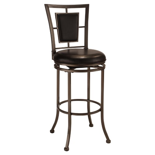 "Hillsdale Furniture Auckland 24"" Swivel Bar Stool with Cushion"