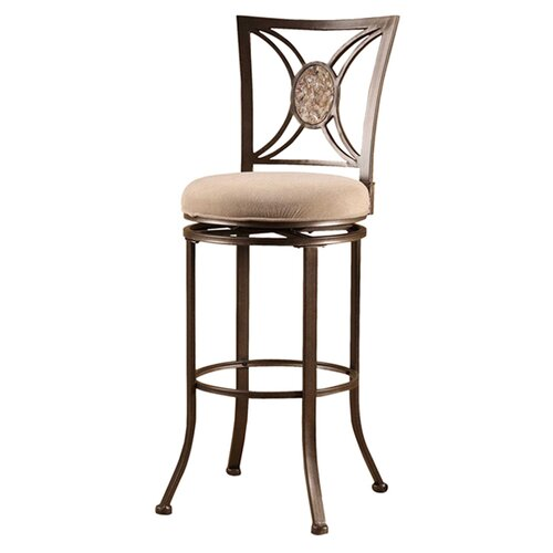 "Hillsdale Furniture Rowan 30"" Swivel Bar Stool with Cushion"
