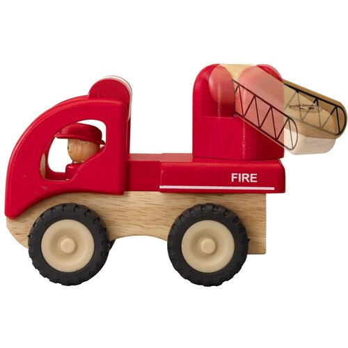 Mini Fire Engine Wooden Vehicle Truck