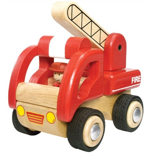 Wonderworld Mini Fire Engine Wooden Vehicle Truck