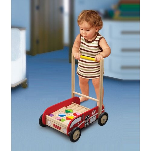 Wonderworld Fire Engine Walker Push Toy