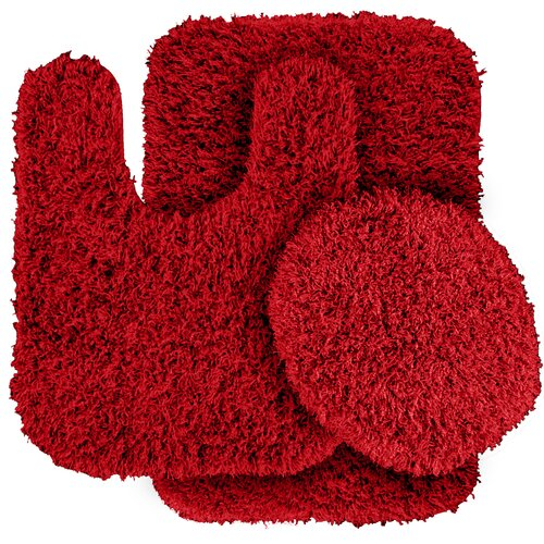 Garland Rug Jazz Shaggy Bath Rug (Set of 3)