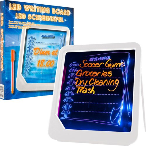 Trademark Home Collection LED Writing Menu Message 0.65' x 0.72' White Board