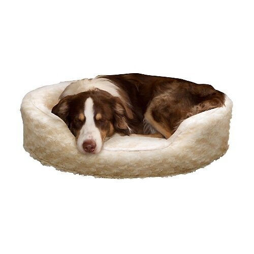 Snuggle Round Fur Bolster Dog Bed