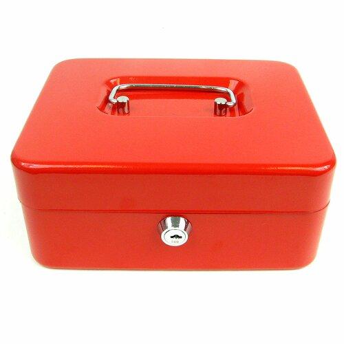"Trademark Tools 8"" Key Lock Cash Box with Coin Tray"