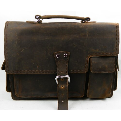 Vintage Leather Laptop Briefcase