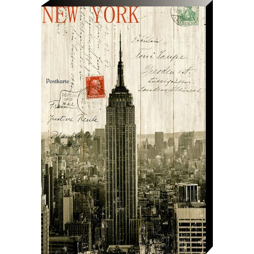 Empire State Building Postcard Vintage Advertisement