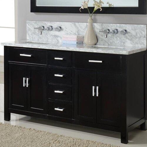 "J&J International LLC Hutton 63"" Double Bathroom Vanity Set"