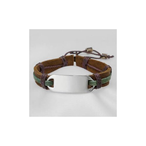 Sticky Jewelry Leather and Hemp Bracelet
