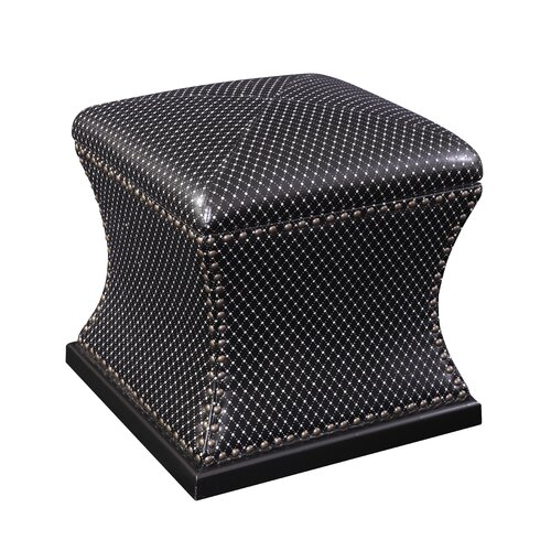Sparkle Leather Storage Ottoman