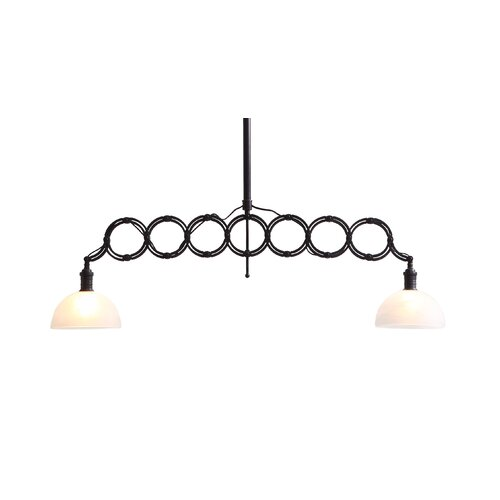 Jade 2 Light Ceiling Lamp