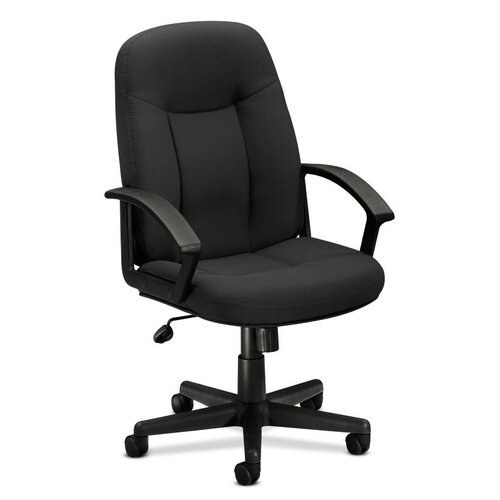 Basyx by HON VL600 Series Mid-Back Chair with Loop Arms