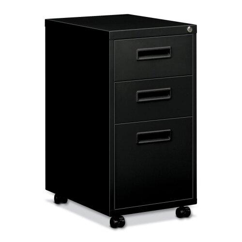 Basyx by HON Embark Series 3-Drawer Mobile File Pedestal File