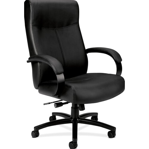 Basyx by HON VL685 Executive High Back Leather Big and Tall Chair