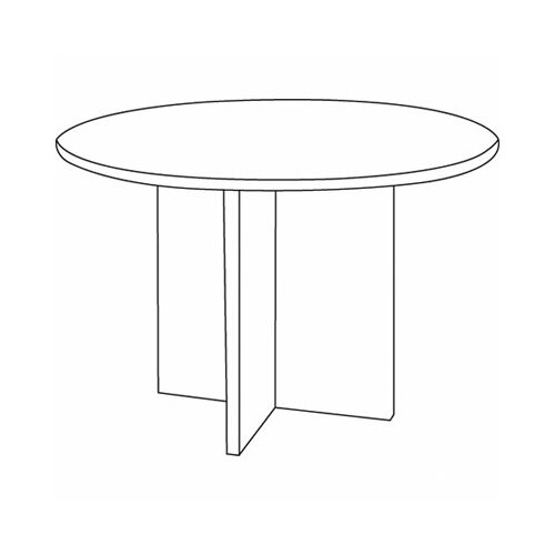 Basyx by HON BL Laminate Series 4' Round Conference Table