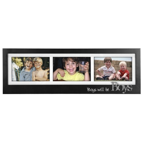 Malden Boys Will Be Boys 3-Opening Memory Stick Picture Frame