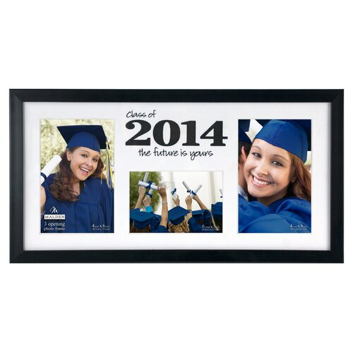 2014 Horizontal 3-Opening Matted Picture Frame
