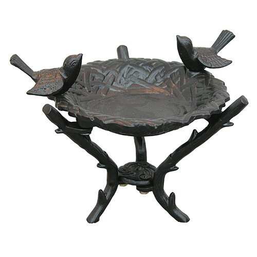 Innova Hearth and Home New Bird Nest Tabletop Birdbath