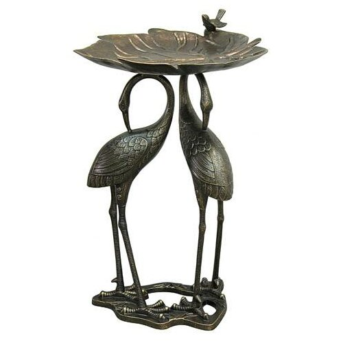 Innova Hearth and Home Heron / Lily Birdbath