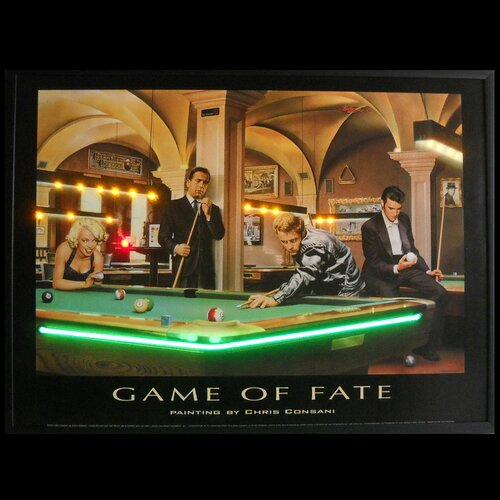 Neonetics Game of Fate Neon LED Framed Vintage Advertisement
